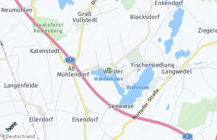 Stadtplan Warder