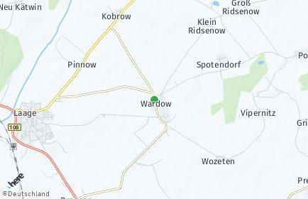 Stadtplan Wardow