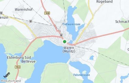 Stadtplan Waren (Müritz)