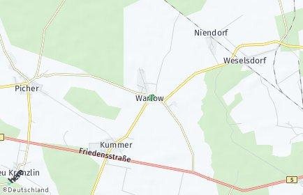 Stadtplan Warlow