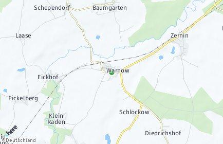 Stadtplan Warnow bei Bützow