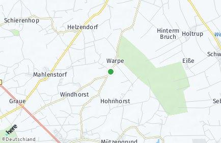 Stadtplan Warpe