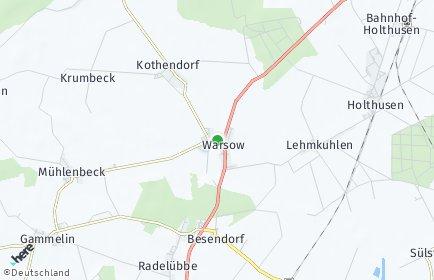 Stadtplan Warsow