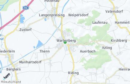 Stadtplan Wartenberg (Oberbayern)
