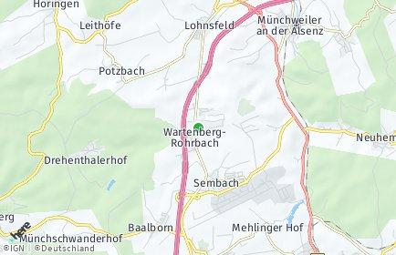 Stadtplan Wartenberg-Rohrbach