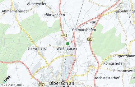 Stadtplan Warthausen