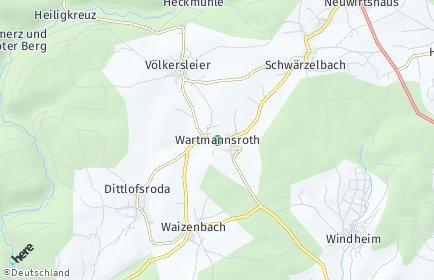 Stadtplan Wartmannsroth
