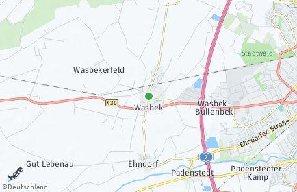 Stadtplan Wasbek