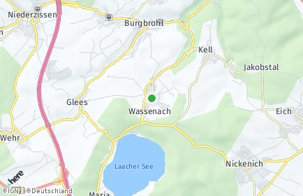 Stadtplan Wassenach