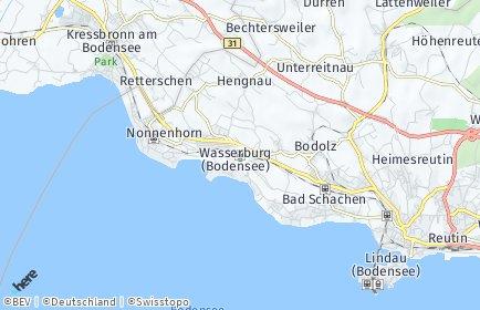Stadtplan Wasserburg (Bodensee)