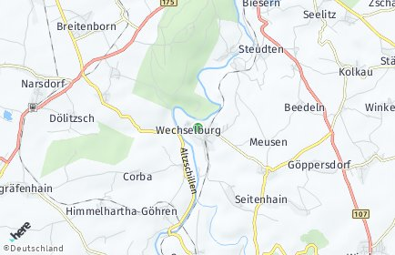 Stadtplan Wechselburg