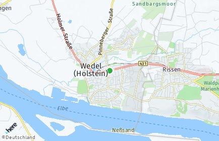 Stadtplan Wedel
