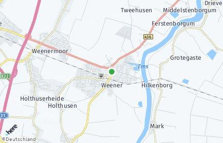 Stadtplan Weener