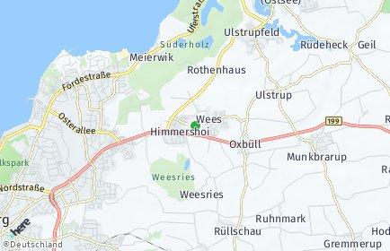 Stadtplan Wees