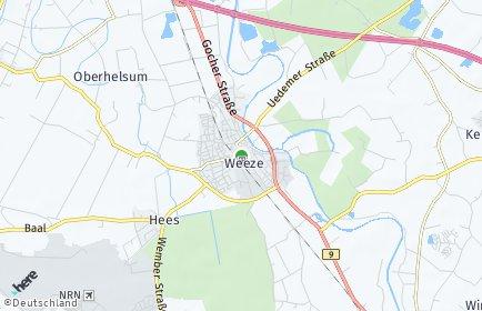 Stadtplan Weeze