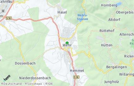 Stadtplan Wehr (Baden)