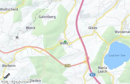 Stadtplan Wehr (Eifel)