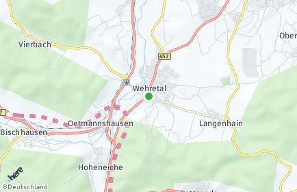 Stadtplan Wehretal