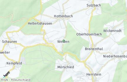 Stadtplan Weiden (Kreis Birkenfeld)