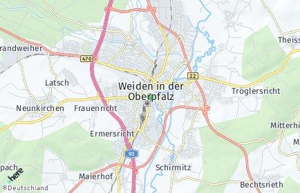 Stadtplan Weiden in der Oberpfalz