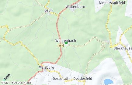 Stadtplan Weidenbach (Eifel)