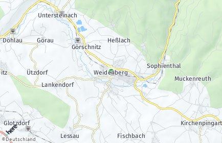 Stadtplan Weidenberg