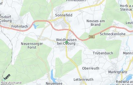 Stadtplan Weidhausen