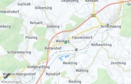 Stadtplan Weiding (Kreis Cham)