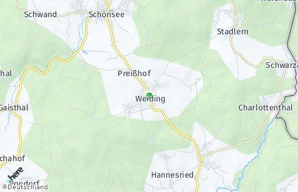Stadtplan Weiding (Kreis Schwandorf)