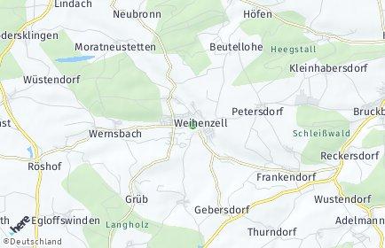 Stadtplan Weihenzell