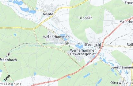 Stadtplan Weiherhammer