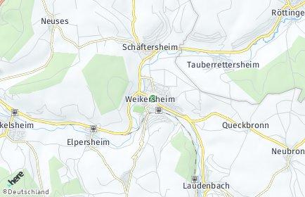 Stadtplan Weikersheim