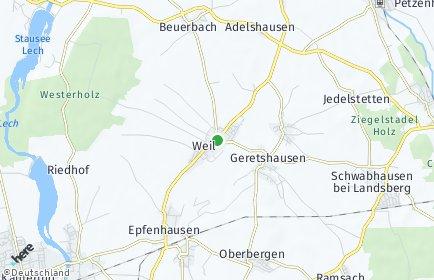 Stadtplan Weil (Oberbayern)