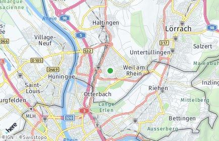 Stadtplan Weil am Rhein