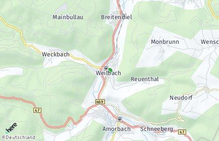 Stadtplan Weilbach