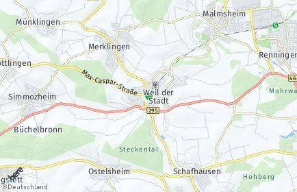 Stadtplan Weil der Stadt
