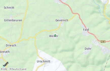 Stadtplan Weiler bei Gevenich