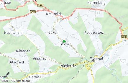Stadtplan Weiler bei Mayen