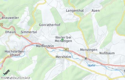 Stadtplan Weiler bei Monzingen