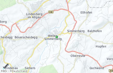 Stadtplan Weiler-Simmerberg