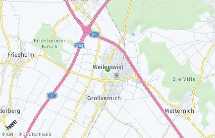 Stadtplan Weilerswist OT Bodenheim