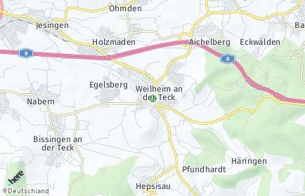 Stadtplan Weilheim an der Teck