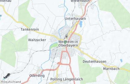 Stadtplan Weilheim in Oberbayern