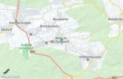 Stadtplan Weil im Schönbuch