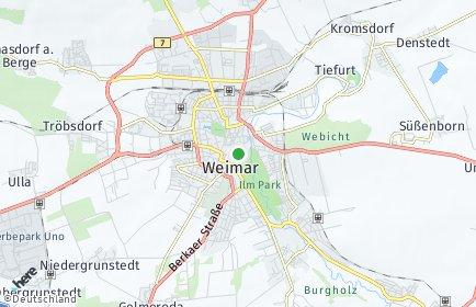Stadtplan Weimar OT Oberweimar