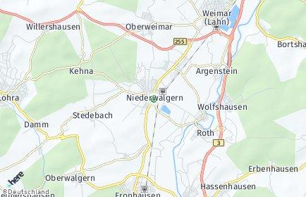 Stadtplan Weimar (Lahn)