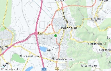 Stadtplan Weinheim (Bergstraße)