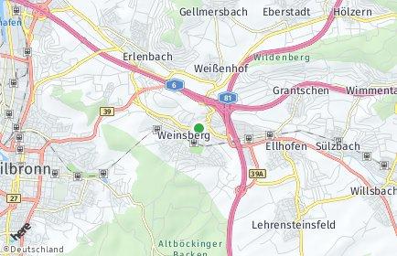 Stadtplan Weinsberg