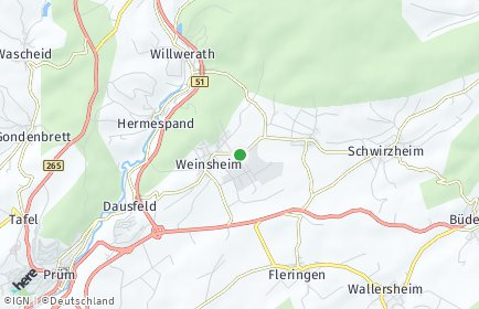 Stadtplan Weinsheim (Eifel)