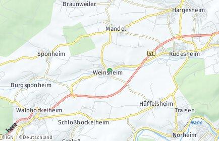 Stadtplan Weinsheim bei Bad Kreuznach